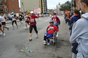 handicapped marathoners