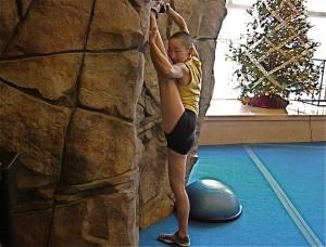 Sophia is very flexible!