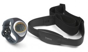 Heart rate monitors typically have two components: a wristwatch and a chest strap.