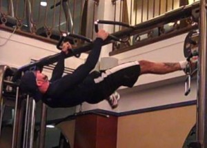 Split legged front lever