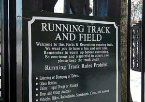 track sign