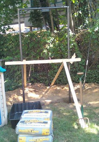 Building a Backyard Pull-up Bar | Al